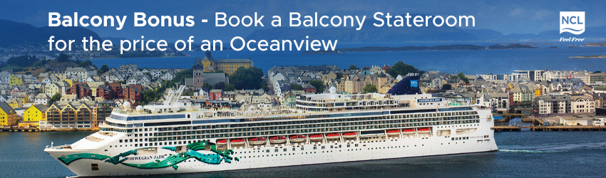 Book a Balcony Stateroom for the price of an Oceanview plus Choose 2 Free offers!