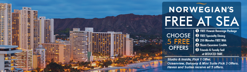 HAWAII - CHOOSE UP TO 5 FREE OFFERS