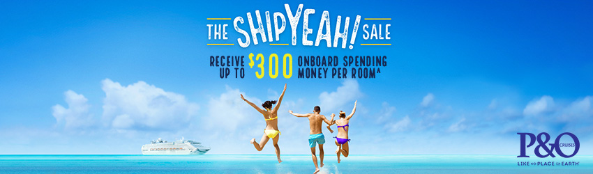 Splash Our Cash Sale! Receive upto $400 Onboard Spending Money